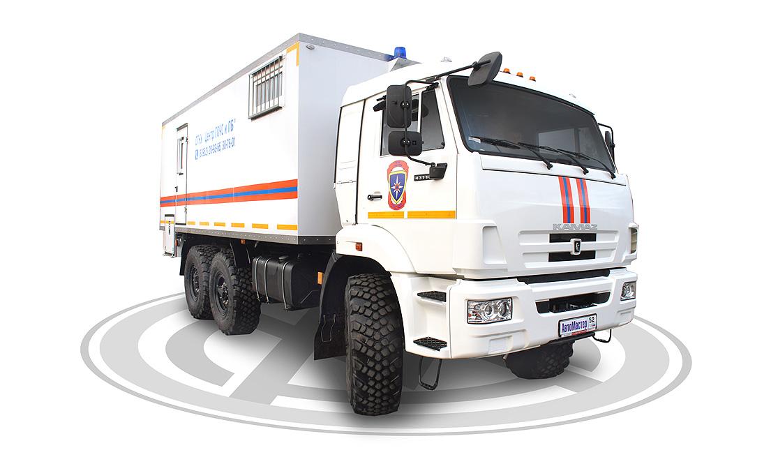 Жилой модуль для службы МЧС на шасси Камаз-43118